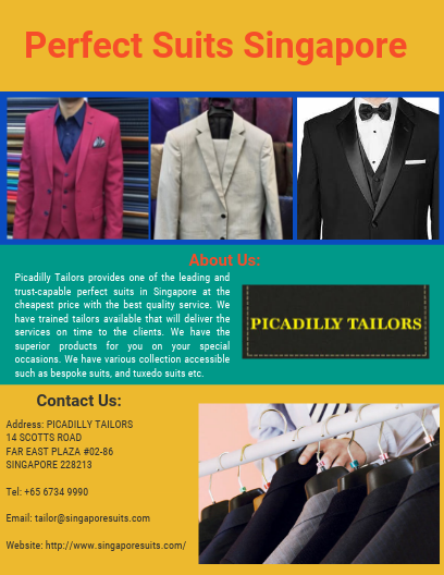 Find the Perfect Suits in Singapore