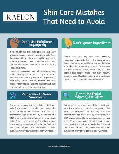 Skin Care Mistakes That Need to Avoid